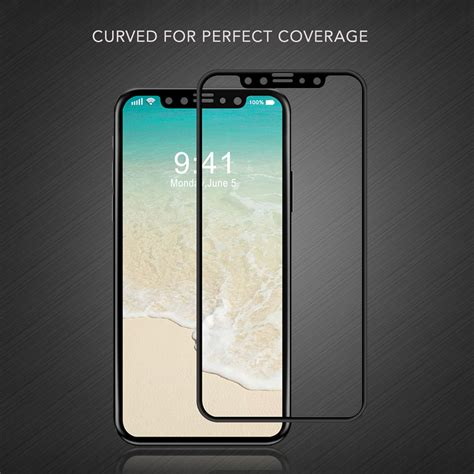 luvvitt tempered glass screen protector 3d curved for iphone xs x ebay
