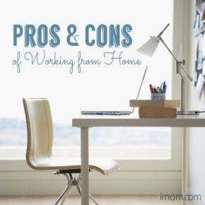 pros and cons of working from home imom