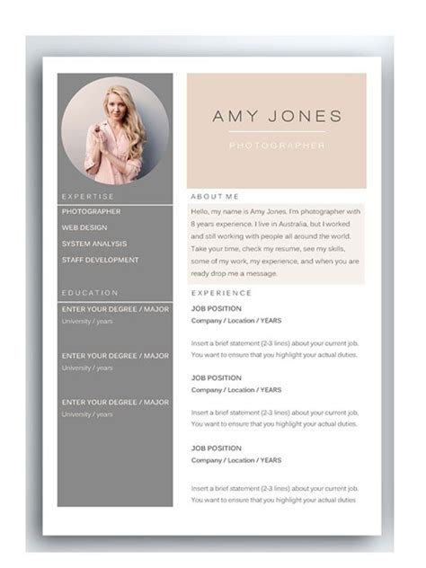 69 best cv images on cv template professional resume template and resume templates