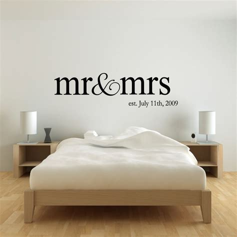 bedroom wall stickers personalized name mr mrs wedding wall decal sticker