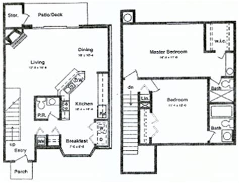 2 bedroom townhouse floor plans townhome plans house design