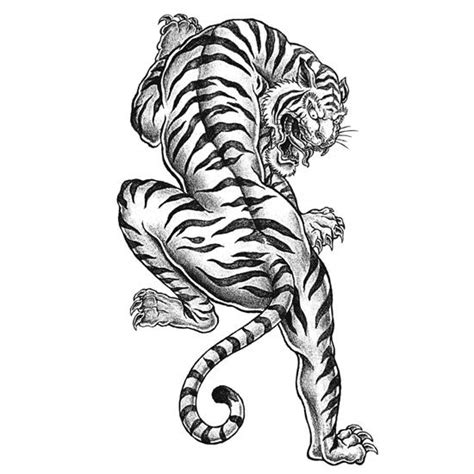 tiger tattoo coloring page favecrafts com
