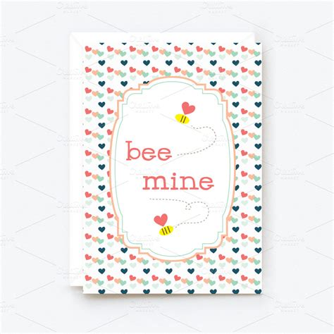 Valentines Card Template Pdf by Printable Cards Card Templates On Creative Market