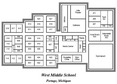 layout of school building school map west middle school