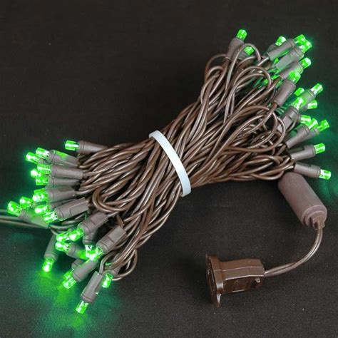 mini christmas lights on brown wire novelty lights inc