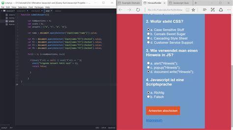 jquery tutorial quiz 010 der ultimative javascript und jquery kurs