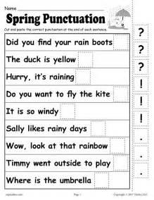 free printable spring punctuation worksheet
