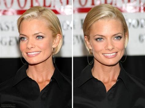jaime pressly s chic short bob with the sides tucked back jaime pressly s chic short bob with the sides tucked back