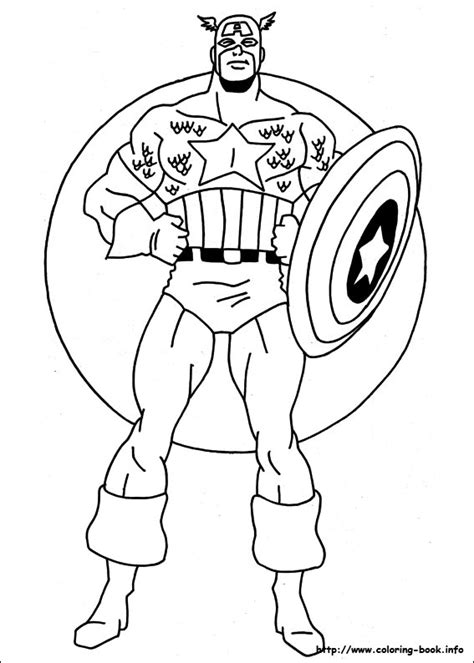 Captain America Coloring Pages Printable captain america learn to coloring