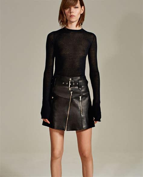 Zara Mini Skirt Rok Pendek Anak leather studio skirt mini skirts zara