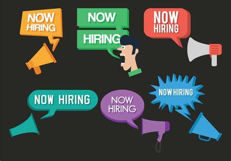 hire seting video now hiring vector set download free vector art stock
