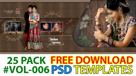 free download wedding album psd templates collection fully