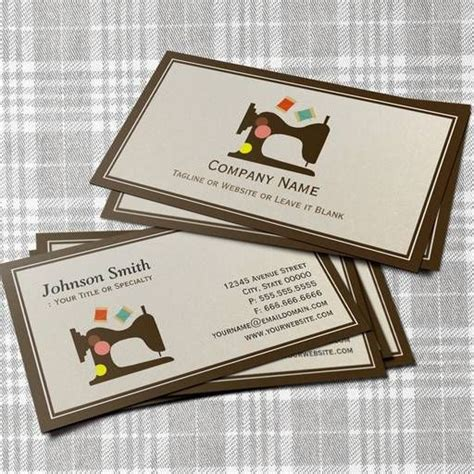 tailoring business card templates free seamstress tailor sewing machine simple chic business