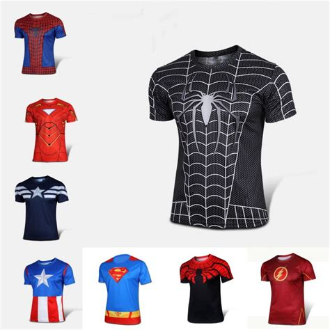 Kaos Captain America 5 Gratis 1superherodtgsession4 superman lycra camisa compra lotes baratos de superman