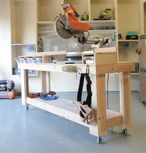 chop saw bench designs diy miter saw bench the home depot