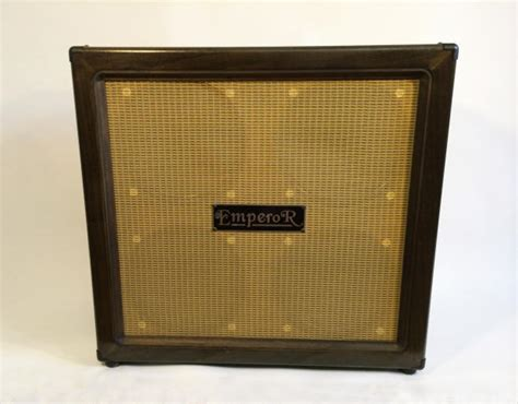 emperor 4x12 guitar cabinet w cover mint condition