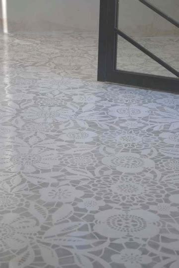 painted floor painted and stenciled concrete floors bleue pi 232 ce