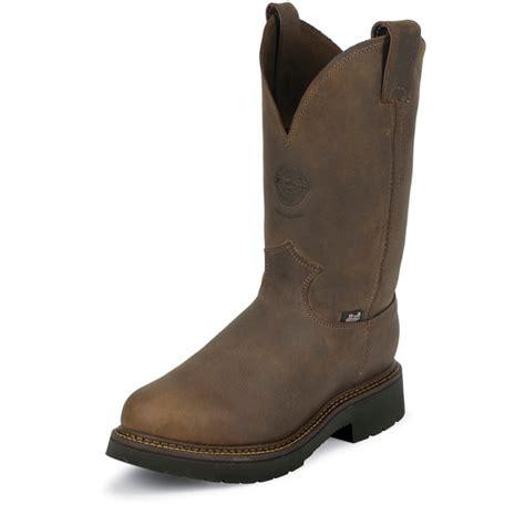 Handmade Work Boots Usa - justin original workboots 4444 balusters pullon bay gaucho 11