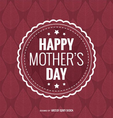 creative cover letter template happy mother s day badge vector download