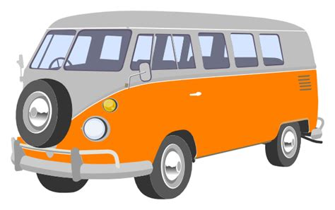 volkswagen van cartoon vw van clip art at clker com vector clip art online
