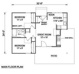 Fort Cbell Housing Floor Plans Cottage Style House Plan 2 Beds 1 00 Baths 700 Sq Ft