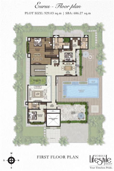 villa plans sobha lifestyle legacy 4 bedroom villas bangalore