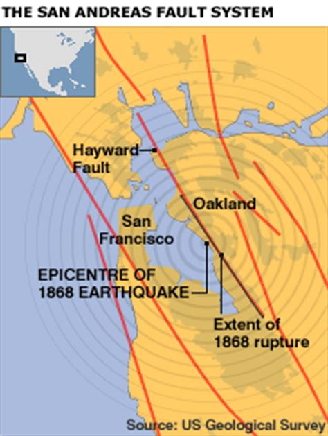 san francisco fault map news science environment america s most