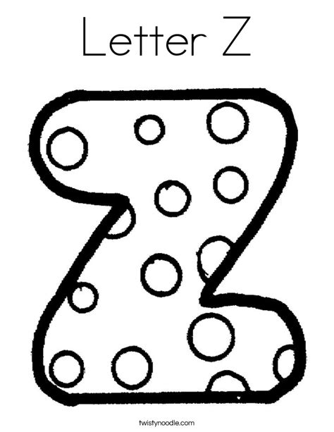 Letter Z Coloring Pages letter z coloring page twisty noodle