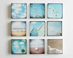 Set of 9 beach photo blocks beach decor turquoise summer beach