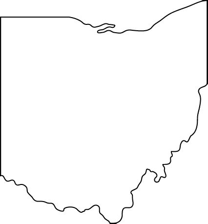 printable blank map of houston ohio ohio outline png