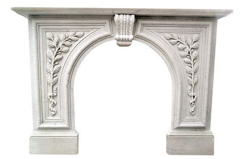 greenwich white marble arched mantel surround fireplace