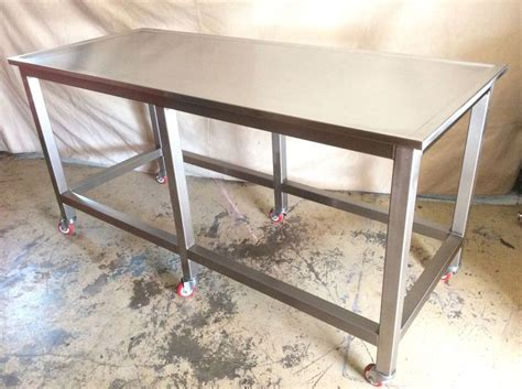 rolling stainless steel work table 1000 ideas about industrial kitchen island on