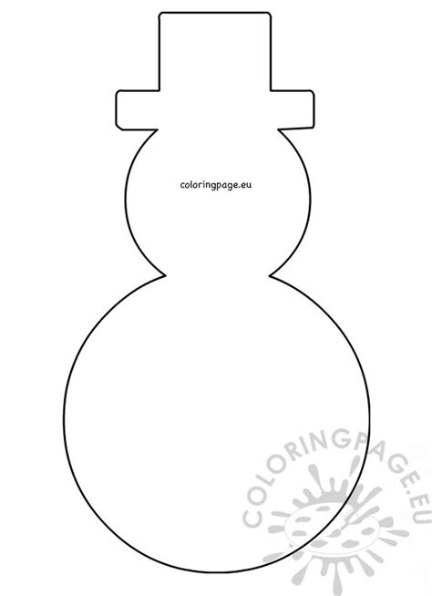 large snowman hat pattern printable coloring page