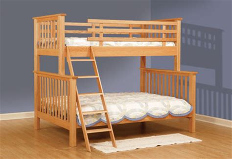 bunk bed full and twin childrens furniture bunk beds mission full twin