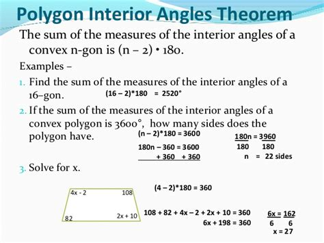 How To Find The Interior Angle Of A Hexagon Sum Of Interior And Exterior Angles In Polygons