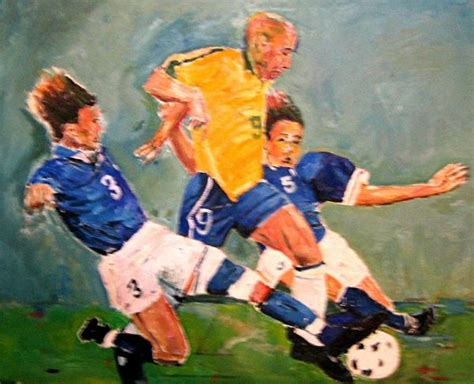 soccer painting soccer by udi peled