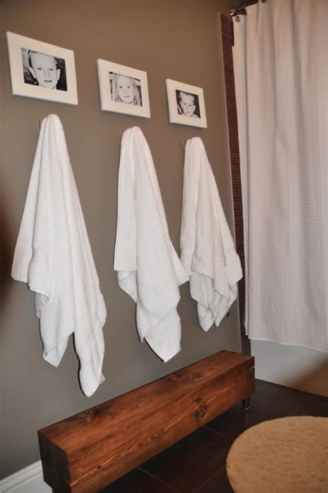 bathroom towel hanging ideas timber and lace kids bathroom update