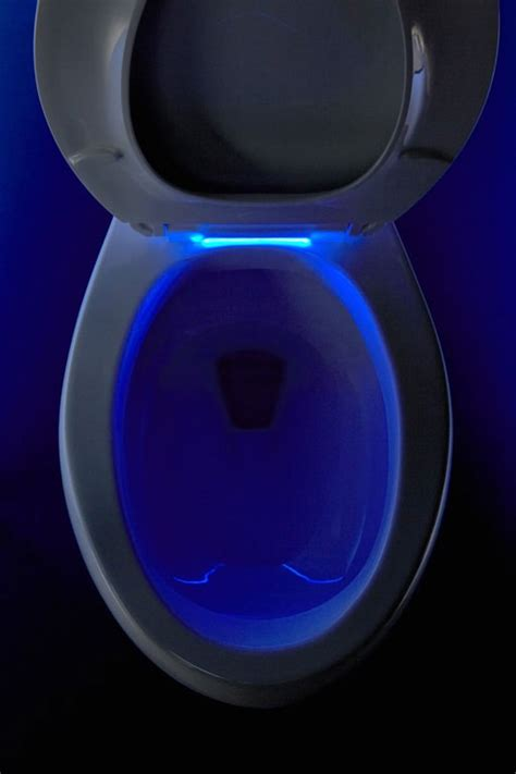 toilet light high tech toilet seat has a built in nightlight for men to