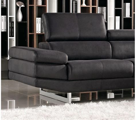 modern black sectional sofa dreamfurniture 1166a modern black fabric sectional