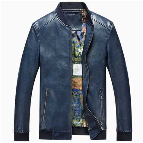 vintage appear mens stand collar leather jackets