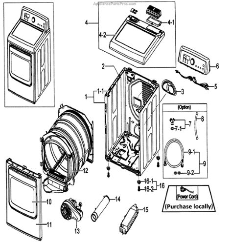 samsung dryer parts parts for samsung dv5471aew xaa assy parts appliancepartspros