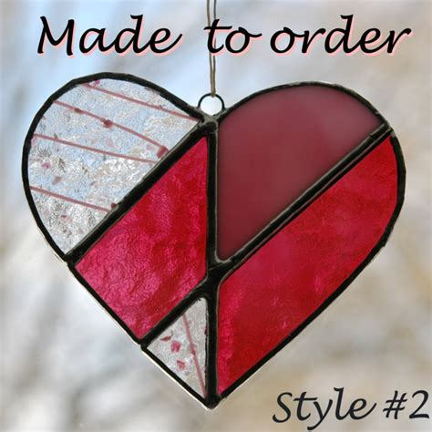 Handcrafted Hearts - handmade hearts stained glass valentines working lass