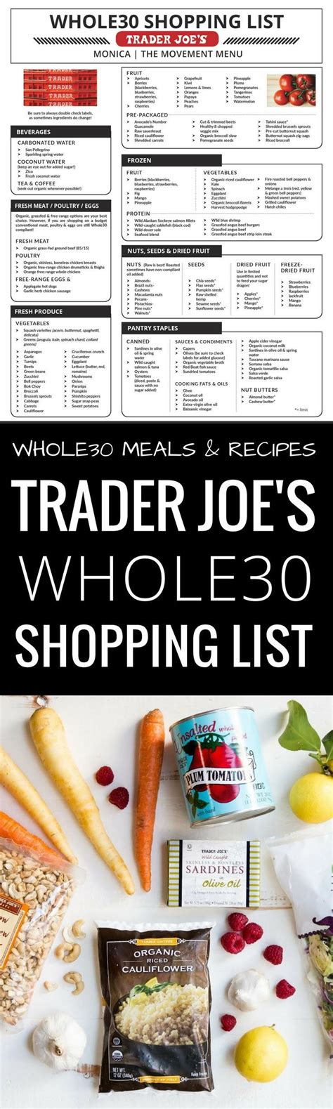 trader joes food 25 best ideas about whole30 shopping list on