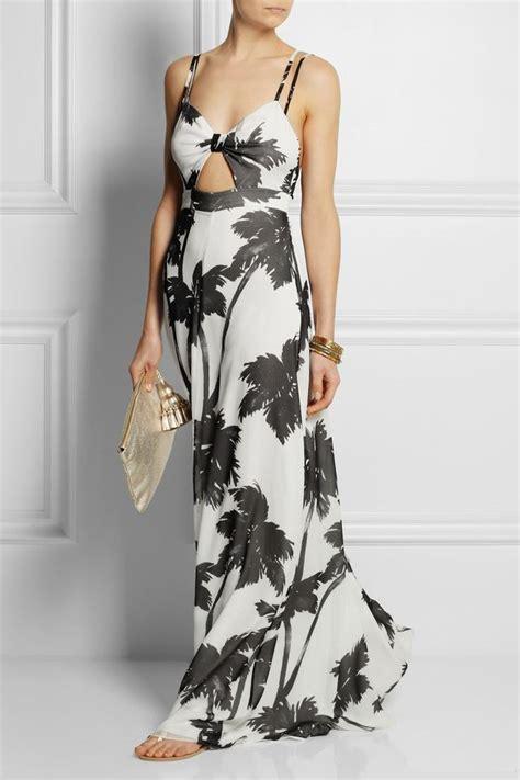 Sale Tree Maxi palm tree print silk georgette maxi dress endource