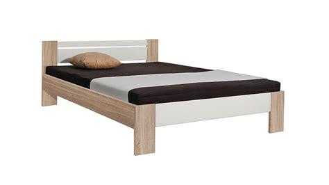 futonbett 140x200 inkl rollrost und matratze bett futonbett in sonoma eiche wei 223 mit rollrost