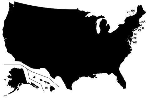 blank map of the united states no states blank map of united states for students