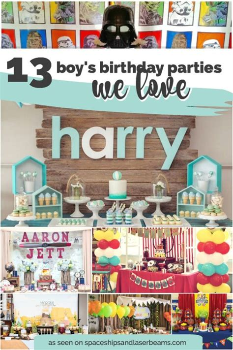 party themes cool 13 cool boy s birthday parties we love spaceships and