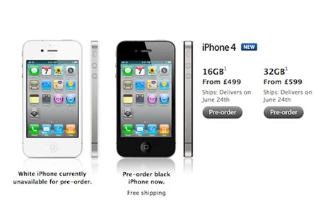 iphone 4 for sale uk iphone 4 uk price apple unveils unlocked iphone pricing