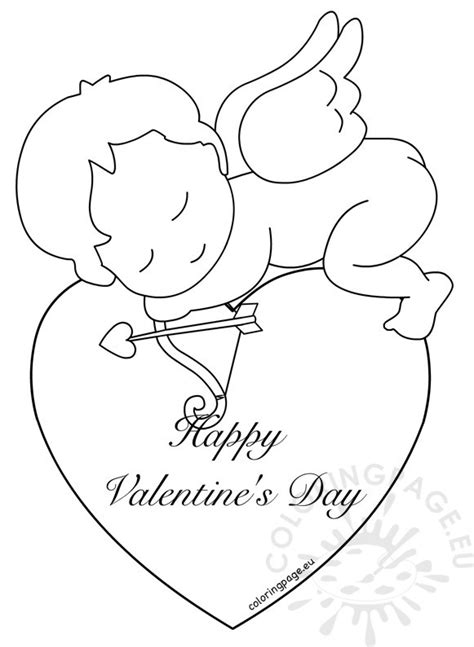 valentines templates for pages happy valentines day cupid pages coloring pages