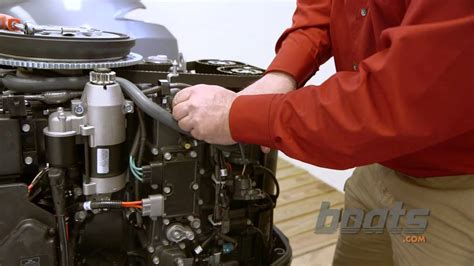 do boat motors have thermostats how to change the thermostat on an outboard engine youtube
